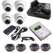 Готовый комплект(система) видеонаблюдения CИСБ AHD 04-1300-home IR базовый