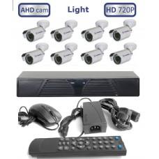 CИСБ AHD 08-1000-street Готовый комплект из 8 уличных видеокамер высокого качества HD
